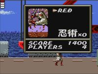 Shinobi sur Sega Game Gear